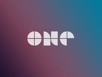 One concept logo design