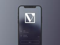 Veraa App Login Screen