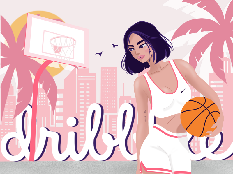 Hello Dribble 🏀 graphicdesign ux ui illustration