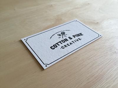 Cotton & Pine letterpress southern card business pine cotton