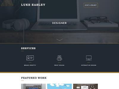 New Website personal website 2015 mockup web design