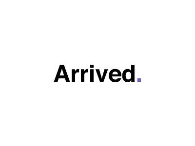 ArrivedHomes - Real logo mark type purple arrived presentation interaction design real estate product ux design powerpoint pitch design typography presentation design vector logo branding illustration ux ui