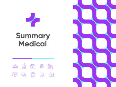 Summary Medical: Logo design/exploration milwaukee startup medical purple color icon logo mark logomark presentation brand identity branding design logo