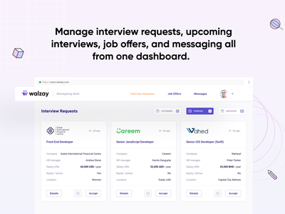 Hire the best talent in the universe on Walzay dashboard design designer logo mockup presentation interface shadow icon pitch data visualization presentation design design profile analytics product design uxdesign uiux ux ui dashboard