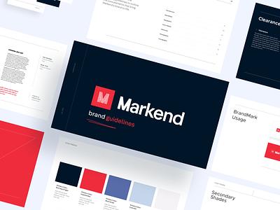 Markend: Brand Guidelines ux design icon brand typography logotype logo mark identity agency powerpoint pitch presentation brand guideline presentation design brand identity branding logo