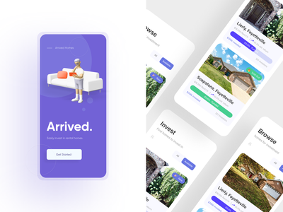 Arrived - Real Estate Listing Page invision user experience design realestate ux ui mobile app product design responsive dashboard figma prototype ui design ux design presentation design rental apartment rent listing real estate