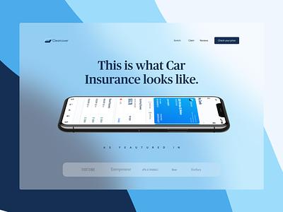 ClearCover - Auto Insurance prototype ui design landing web design website product insurance data visualization presentation visual design design ui ux landing page pitch pitch deck presentation design