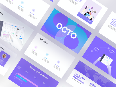 OCTO Presentation/Pitch Deck deck sales deck powerpoint presentation powerpoint template slide startup design data visualization ux ui powerpoint keynote pitchdeck presentation design presentation pitch deck pitch