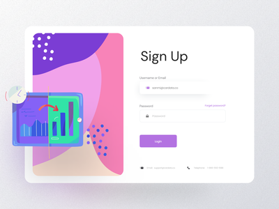 Sign Up Page ✈️ webflow password swaylabs onboarding interface layout color presentation presentation design illustration form login sign up product design ux design ui design dashboard branding ux ui