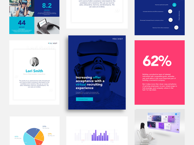 YouVisit - Virtual Reality user interface design chart book cover page layout blue statistics interface website ui design ux design data visualization color infographic ebook virtual reality
