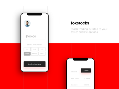 Foxstocks Mobile UI Design