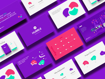 Presentation design for Hubble deck presentation pitch illustrator typography design icon slide infographic purple illustration google slides powerpoint template powerpoint presentation prezi pitch deck keynote data visualization powerpoint presentation design