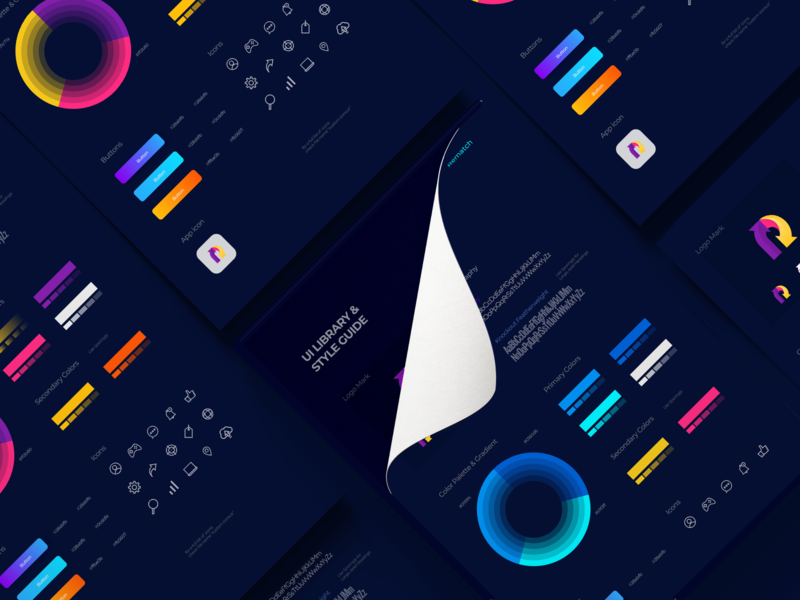 Design System /UI Library mockup color interface product design product user interface app vector illustration typography infographic data ux design ui design web design website designsystem design ux ui