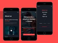 Launchfit website mobile