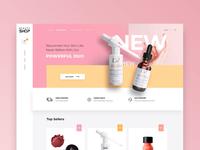 Beauty shop - online store website