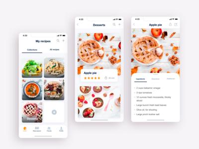 Cookiam. Cookbook app