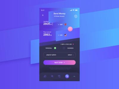 currency app UI