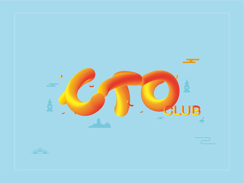 CTO CLUB - font design poster design icon graphic font design