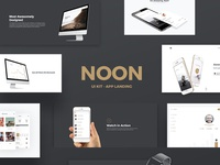 Noon App Landing - UI Kit