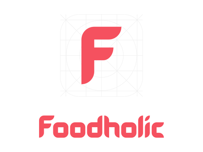 Foodholic Logo typography mark logomark logo ios identity brand branding product appstore