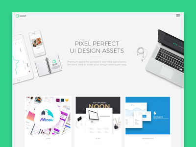 UIMint clean ecommers shop store design web product page minimal landing kit assets