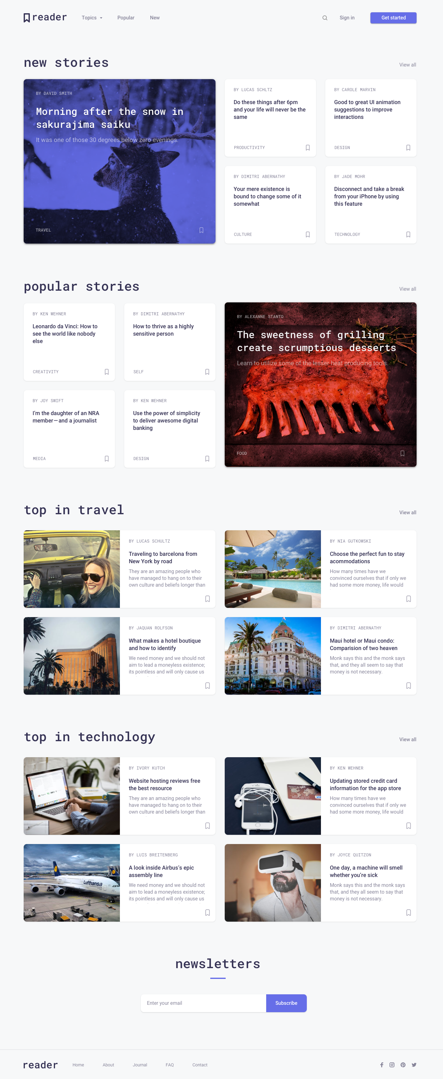 Full preview   reader visitor landing page