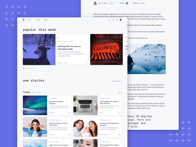 Reader - New Stories read new webdesign web story stories sketch product design page landing article