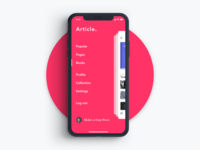 Article - Mobile Side Menu