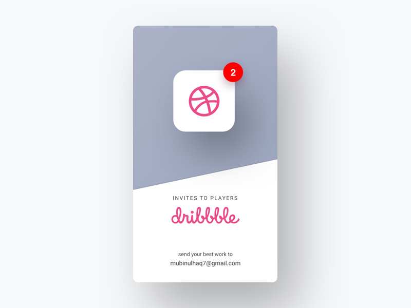 2x Dribbble Invites badge app draft dribbble freebie giveaway invitation invite invites web