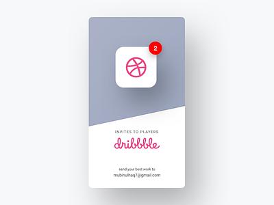 2x Dribbble Invites badge app draft dribbble freebie giveaway invitation invite invites web