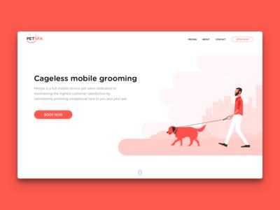PetSpa - Landing Page