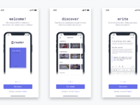 Dribbble preview   reader onboarding