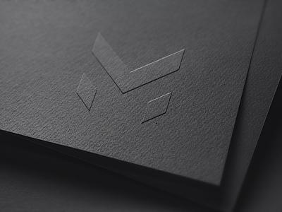 MV Logo - Personal Branding print type mark letter card personal v m logo brand
