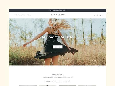 The Closet clothing fashion type website typography web ux ui minimal design