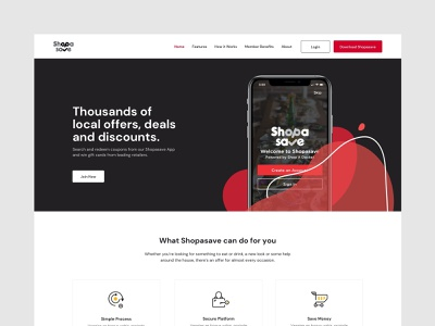 Shopadocket Concept commerce coupon shopping website web minimal ux ui design