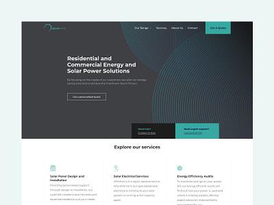 Solar Sphere website web ux ui minimal design