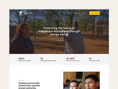 Indigenous Energy Australia energy solar energy website web ui ux minimal design