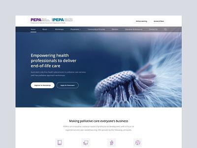 PEPA Education health website ui ux minimal design