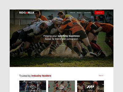 Red Gorilla Website Concept website design agency minimal website web ux ui sport design