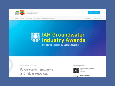IAH resource learning technology technical science minimal website web ux typography ui design