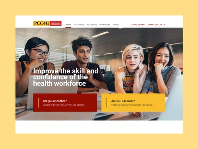 PCC4U teaching palliativecare learning management system learning platform learning app learning type website minimal web app ux typography ui design