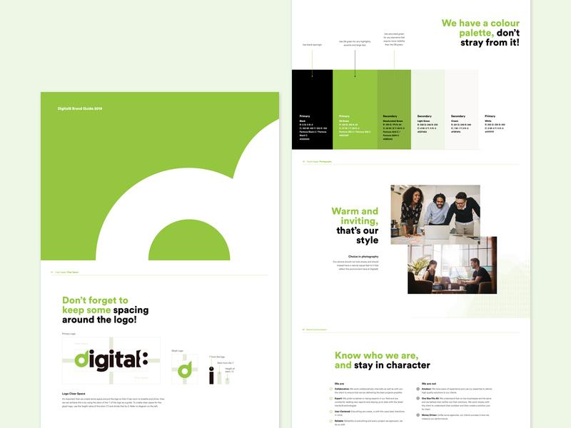 Digital8 Brand Guide 2019 brandidentity illustration ux ui minimal illustrator logo design branding branding design