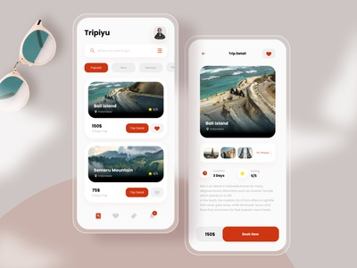 Tripiyu - Travel App design minimalist simple traveling travelapp mobileapp mobile uiux