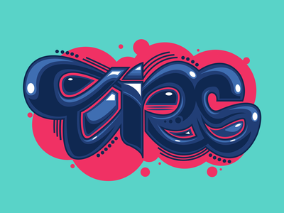 TIRS vector typeface font lettering logotype graffiti typography