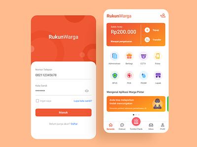 Rukun Warga App uiux mobile app ui design mobile design branding social app mobile app ux ui