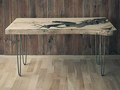 Bloski Design - coffee table table furniture graphic illustration wood