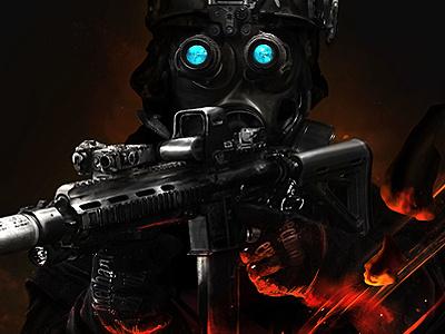 GROM army goverdose soldier poland polish photoshop dark fire