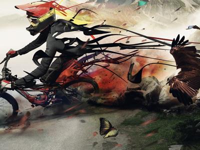 Fotolia contest bicycle abstract mtb sport illustration digital art