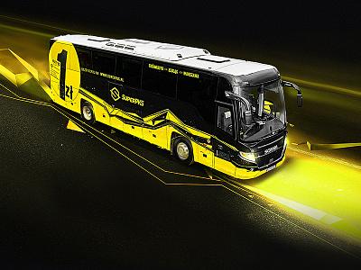 SuperPKS bus polaus photoshop manipulation illustration art digital 2to2 advertisement retouching