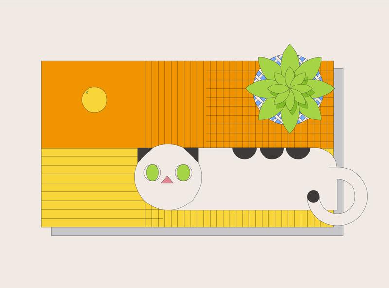 CAT-WangZai animal illustration vector typography